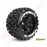 """Roti complete Louise RC MT-UPHILL cu jante negre pentru monster truck scara 1/8 Traxxas Style Bead 3.8"""", offset 0, hex 17mm"""