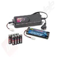 Pachet charger ultra-rapid CARSON 4Ah, acumulator 3000mAh si 8 baterii AA