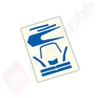 Sticker, albastru, pentru drona Traxxas Aton