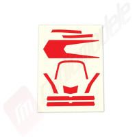 Sticker, rosu, pentru drona Traxxas Aton