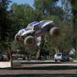 Masinuta cu telecomanda off-road pe benzina 4x4 Losi Monster Truck XL RTR 1/5 Alb