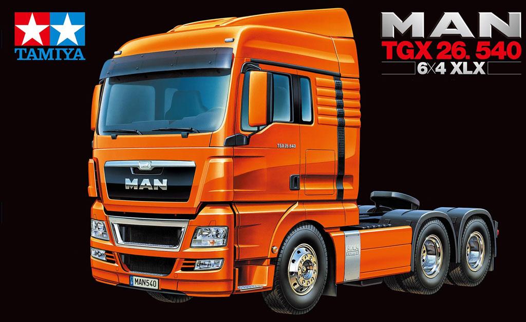 NOU!!! Kit autocamion Tamiya 1:14 RC MAN TGX 26.540 6x4 XLX EURO 5, model 2013
