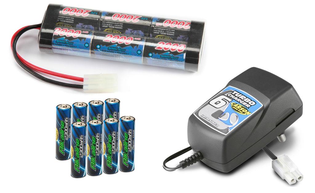 Pachet starter - incarcator, acumulator 2000mAh si baterii telecomanda