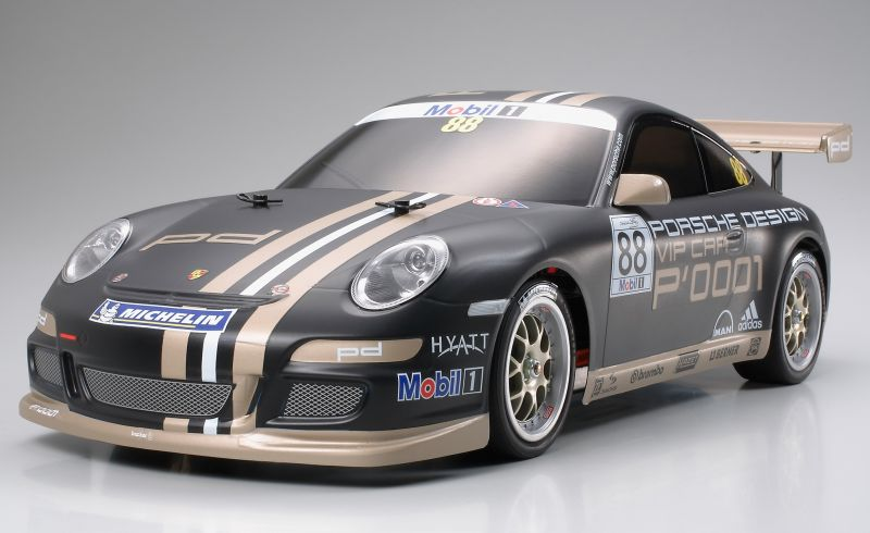 Kit automodel TAMIYA TT-01E: Porsche 911 GT3 Cup VIP 2007