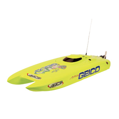 Miss Geico - navomodel brushless de tip catamaran, radio 2.4GHz, RTR