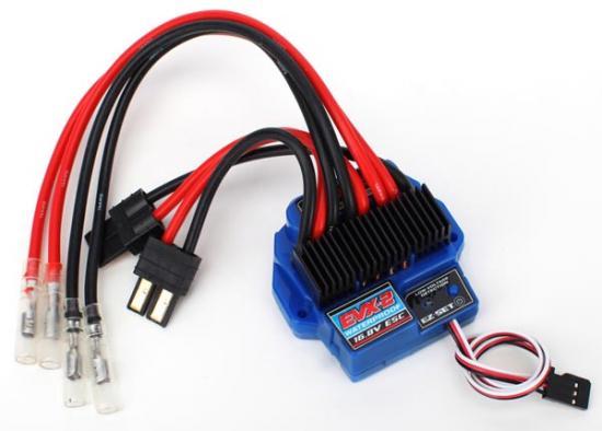 Regulator de turatie EVX-2 rezistent la apa, 16.8v, detectie voltaj scazut, automodele TRAXXAS 1/10 cu doua motoare cu perii