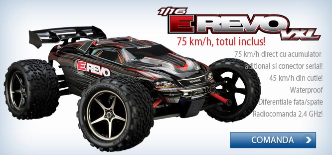 Automodel electric off-road 4x4 brushless E-REVO VXL, scara 1/16